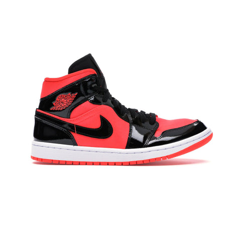 Air Jordan Women's 1 I Black Hot Punch