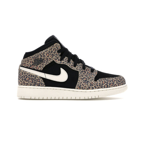 Air Jordan Kid's GS 1 Mid SE Leopard