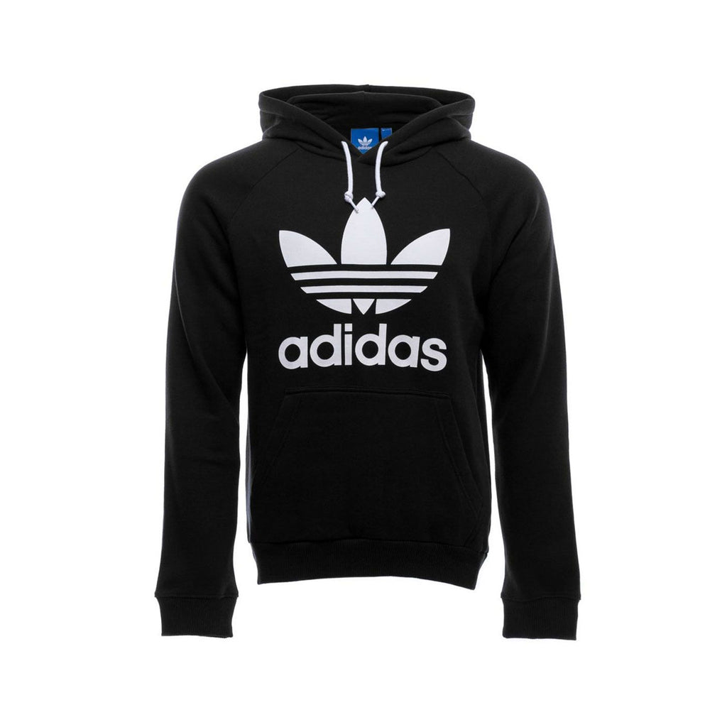 Adidas Men's Originals Trefoil Hoodie Black White - KickzStore