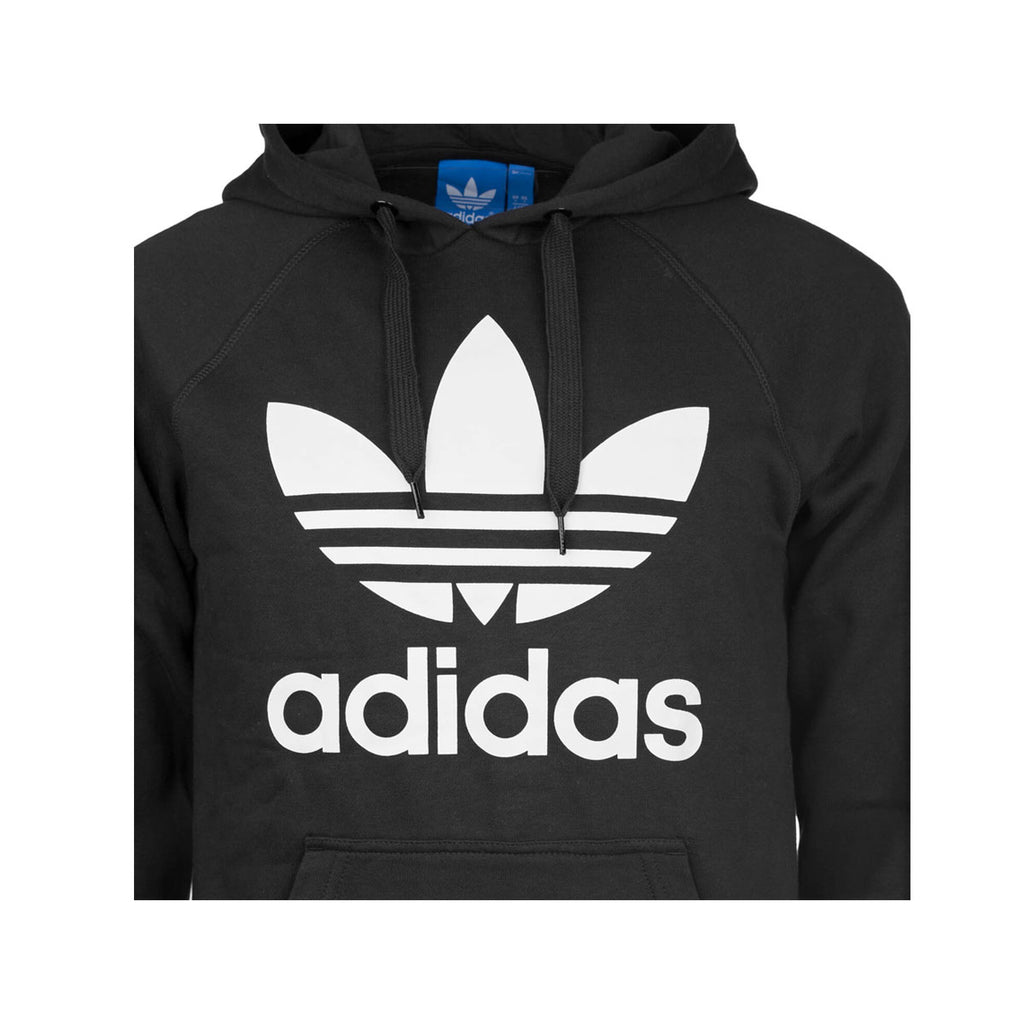 Adidas Men's Originals Trefoil Hoodie Black White