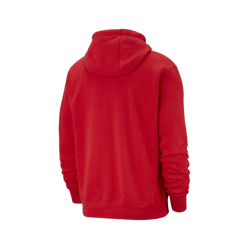 Nike Men's NSW Club Fleece Pullover Hoodie Red - KickzStore