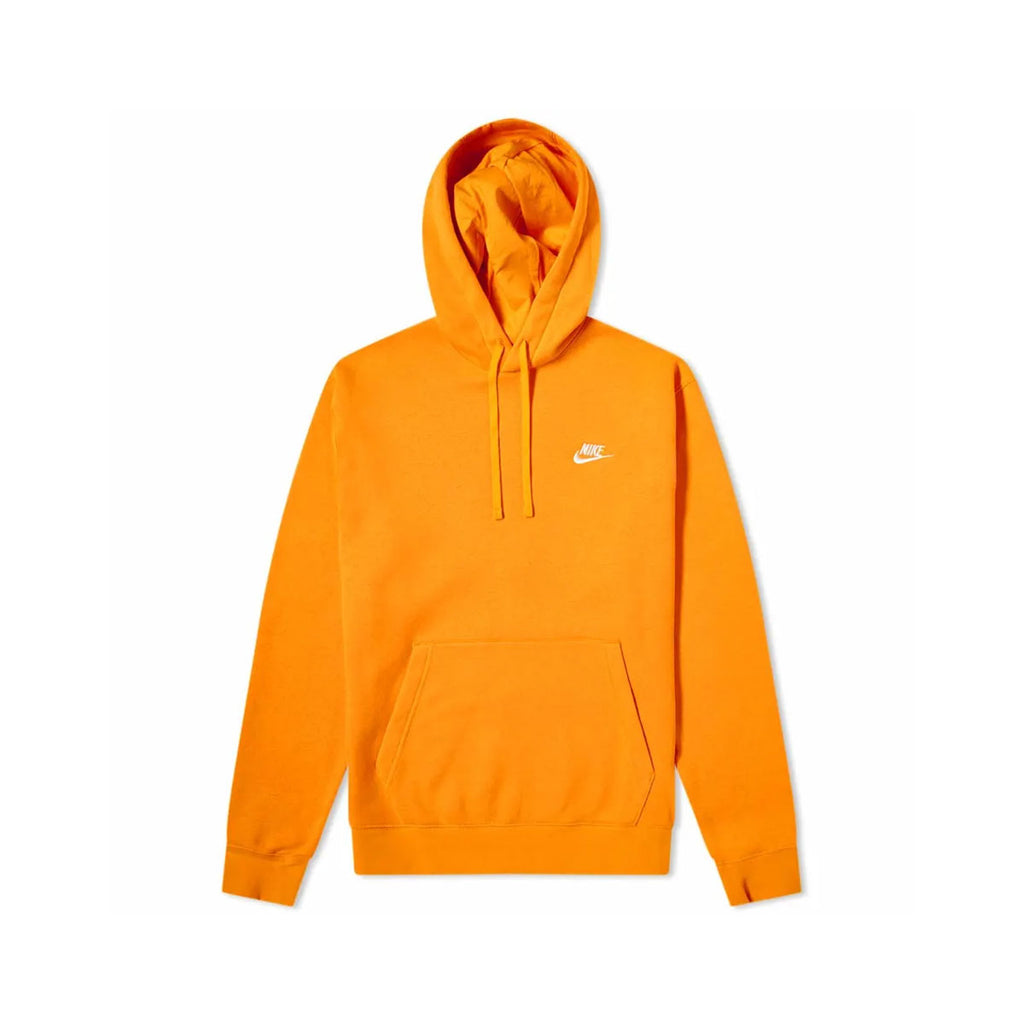 Nike Men's Sportswear Club Fleece Pullover Hoodie Orange - KickzStore