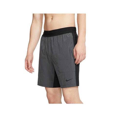 Nike Men's Flex Yoga Training Shorts Grey Black