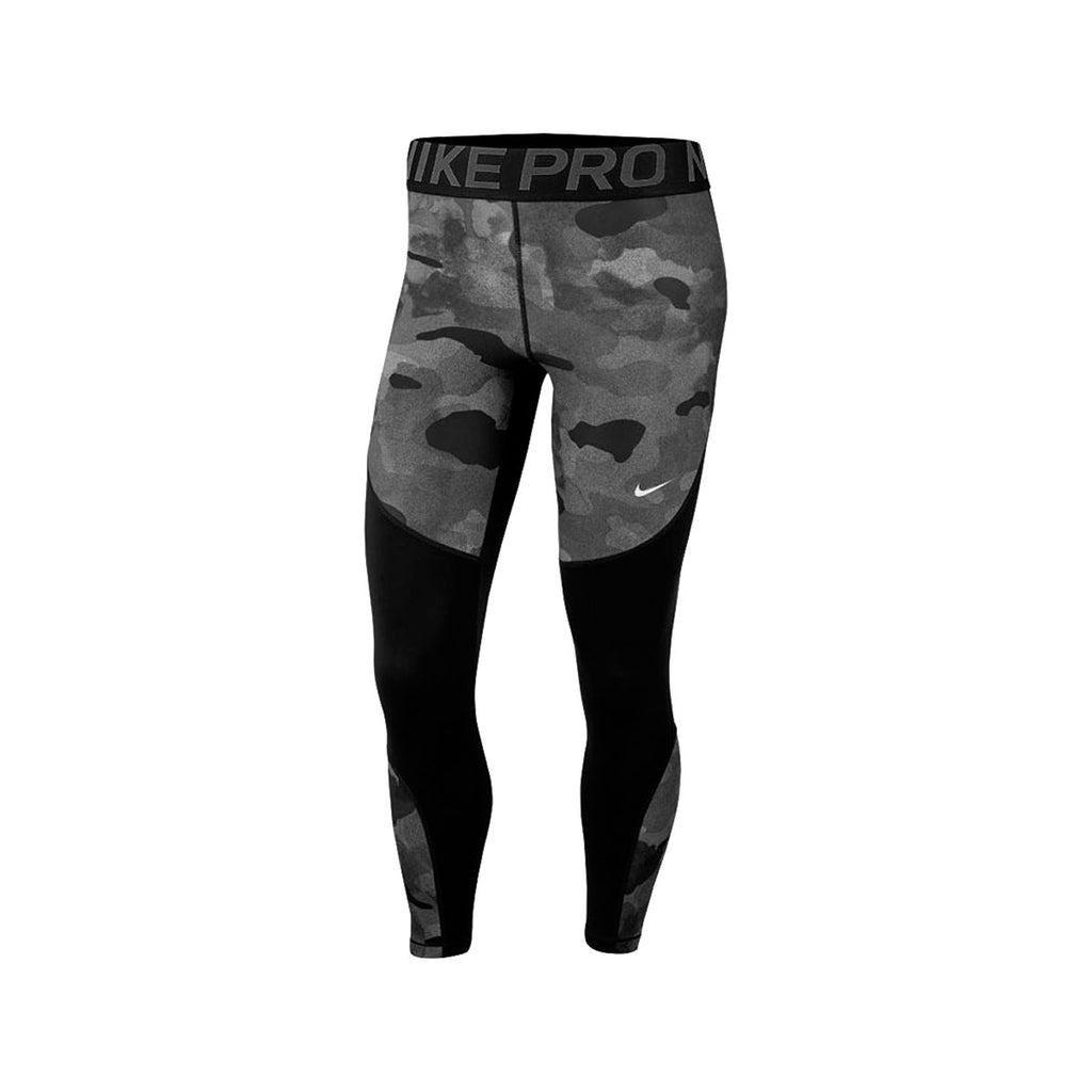 Nike Women's Pro Icon Clash Rebel Camo 7/8 Training Tights Black Grey