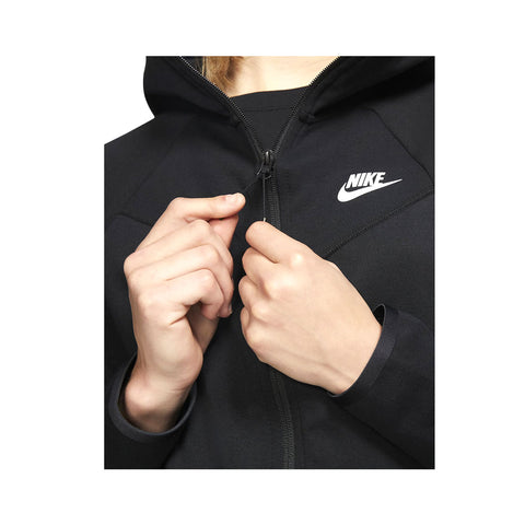 Nike Women's NSW Windrunner Tech Fleece Zip Up Hoodie Black