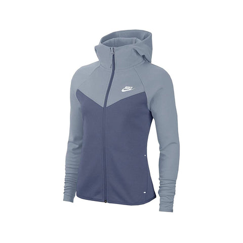 Nike Women's NSW Windrunner Tech Fleece Zip Up Hoodie Diffused Blue