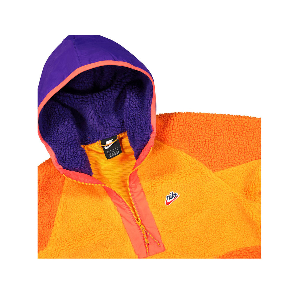 Nike Men's Sportswear Half Zip Top Sweater Orange Purple - KickzStore