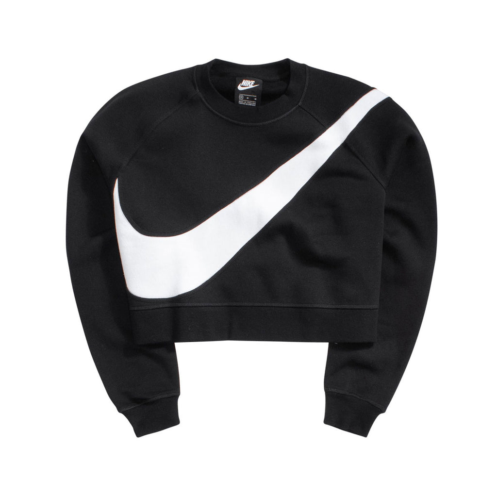 Nike Women's Swoosh Crew Fleece Sweatshirt Black
