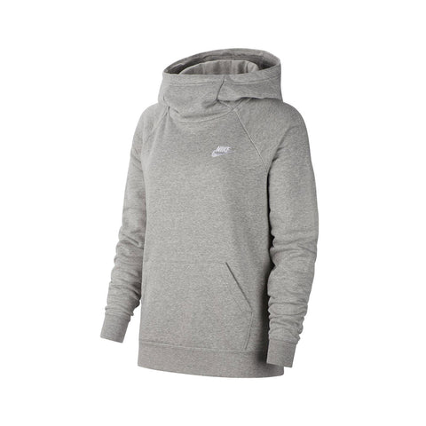Nike Women's Essential Club Fleece Funnel Neck Heather Grey