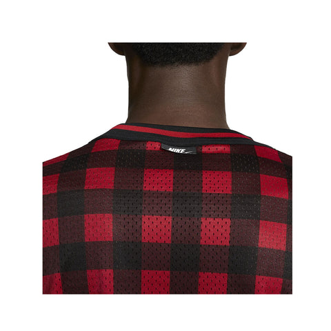 Nike Men's Sportswear NSW Plaid Mesh S/S Shirt
