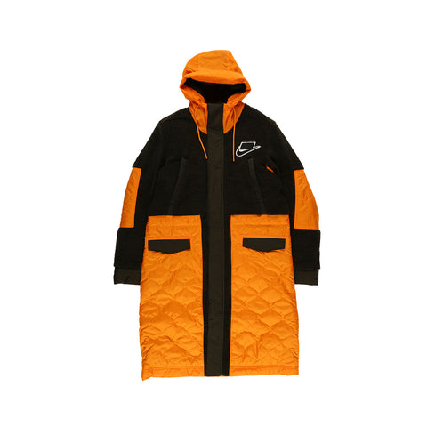 Nike Men's Sportswear Sports Pack Synthetic-Fill Parka Coat Olive Orange