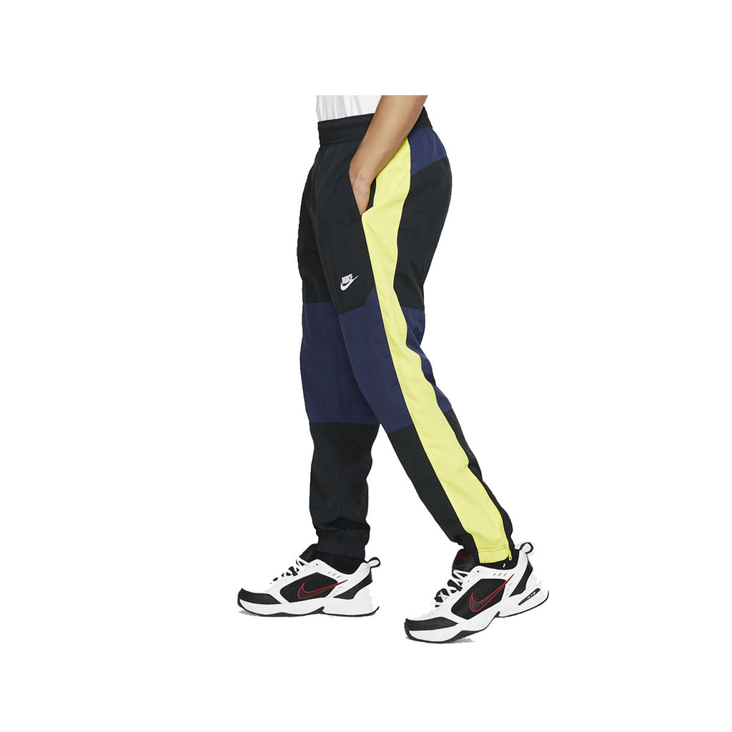 Nike Men's Sportswear NSW Midnight Navy Volt Glow Jogger Woven Pants - KickzStore