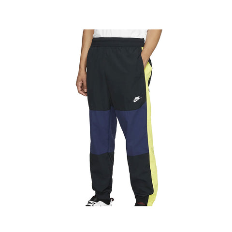 Nike Men's Sportswear NSW Midnight Navy Volt Glow Jogger Woven Pants