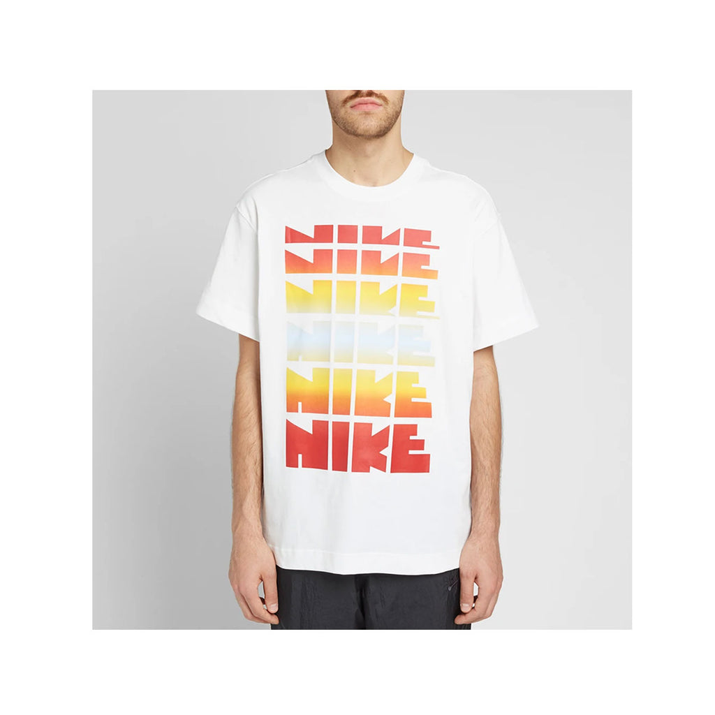 Nike Men's NSW Sportswear Classics 2 Sunset Retro Logo White T-Shirt - KickzStore