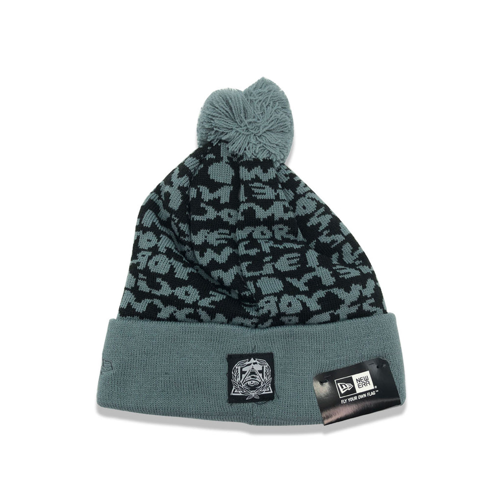 New Era x Secret Society SCRT SCTY Beanie Black Gray - KickzStore