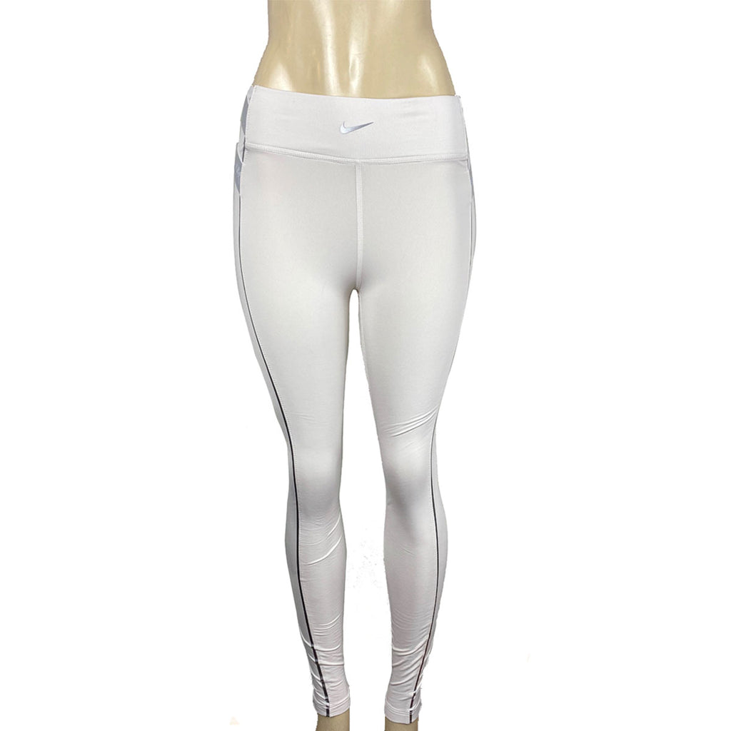 Nike Women's Pro Hyperwarm White Silver Gym Training Tights CD0070-030
