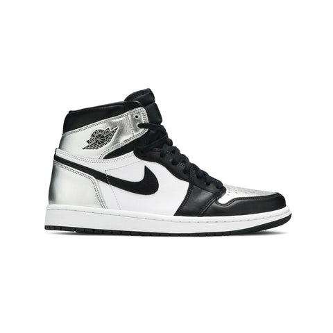 Air Jordan Women's 1 Retro High OG Silver Toe