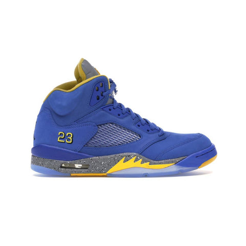 Air Jordan Men's 5 V Retro JSP Laney Varsity Blue Varsity Maize Basketball Shoes