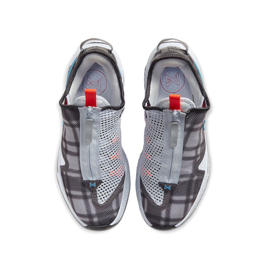 Nike PG 4 Paul George Plaid Football Grey Laser Blue
