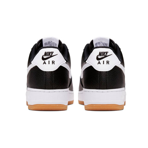 Nike Men's Air Force 1 Low 07 Black White Gum Bottom
