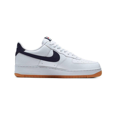 Nike Men's Air Force 1 Low 07 White Obsidian Gum Bottom