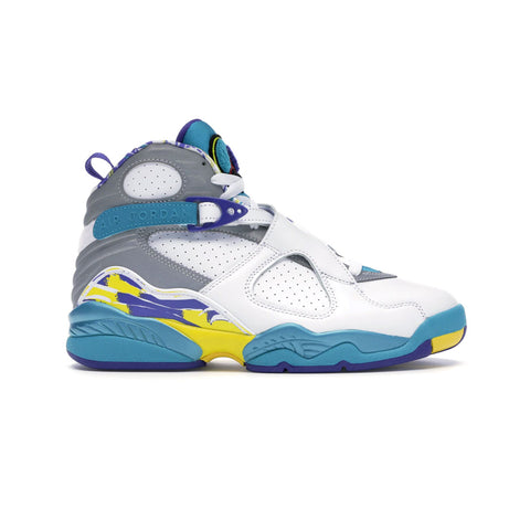 Air Jordan Women's 8 VIII Retro White Aqua