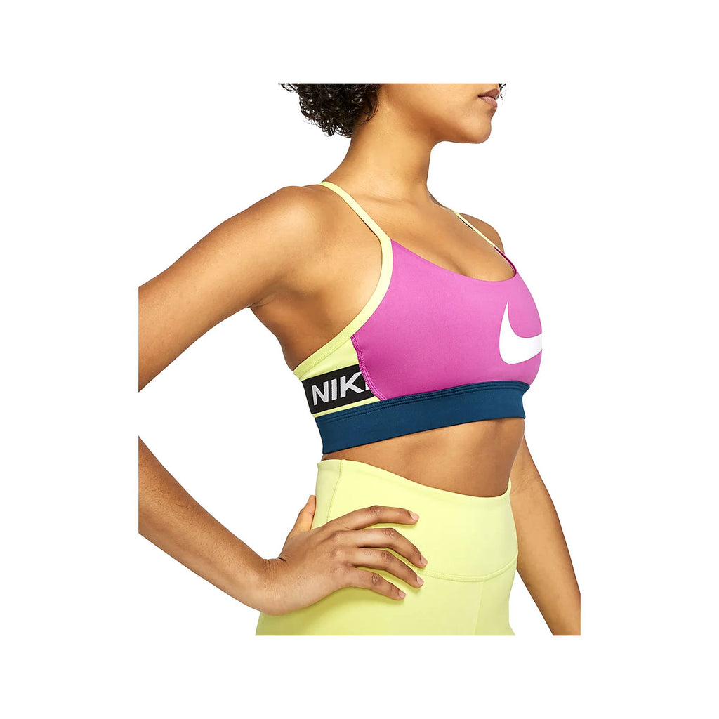 Nike Women's Icon Clash Light-Support Sports Bra Pink Navy