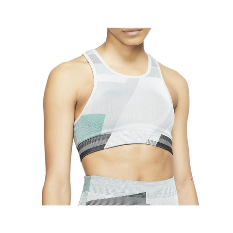 Nike Women's Icon Clash Light-Support Sports Bra Green Gray