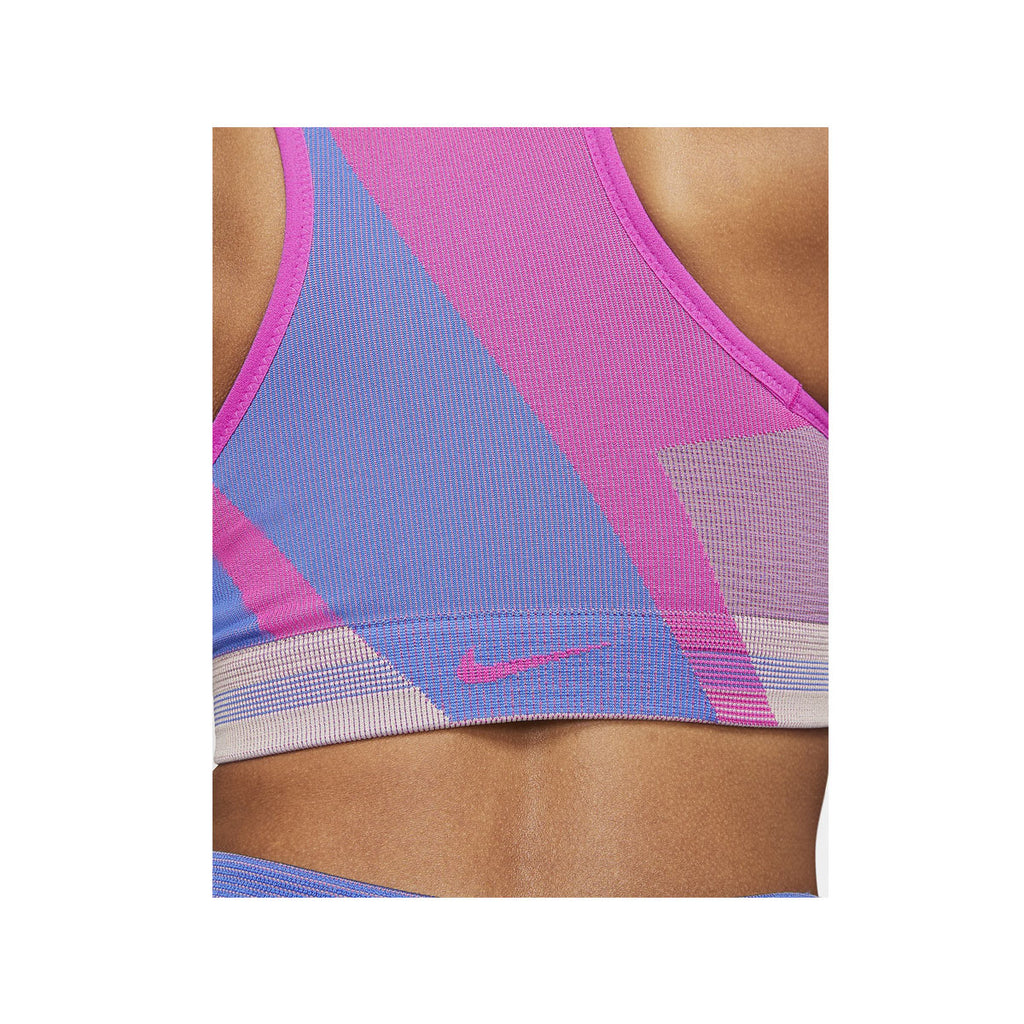 Nike Women's Icon Clash Light-Support Sports Bra Pink Blue - KickzStore