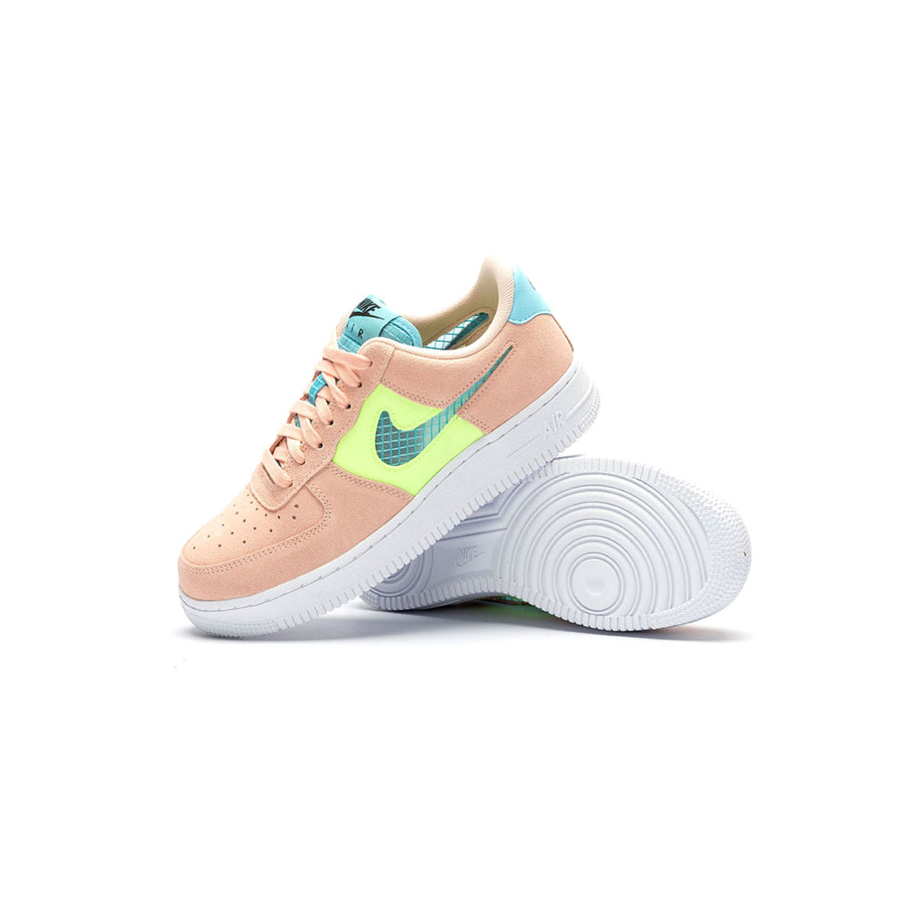 Nike Women's Air Force 1 Low Washed Coral Ghost Green - KickzStore