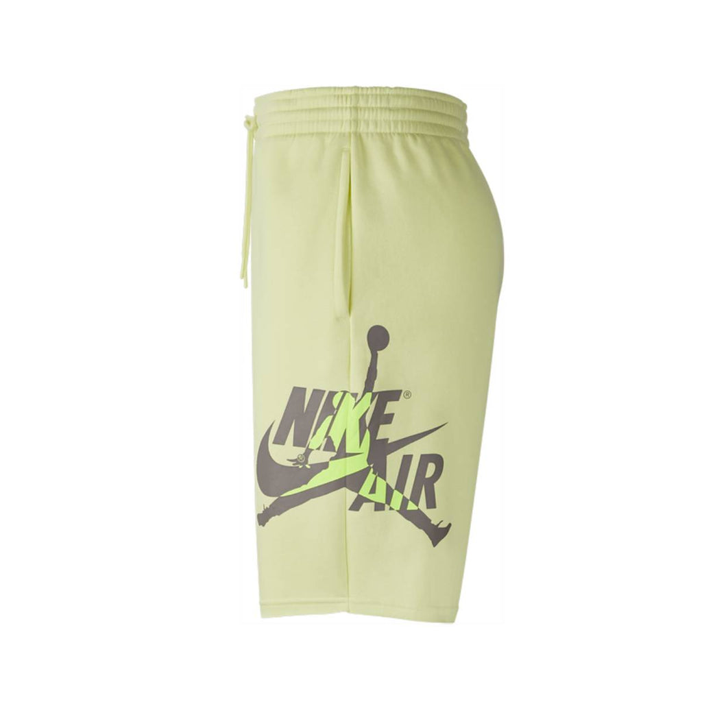 Air Jordan Men's Classic Nike Air Jumpman Logo Fleece Shorts Luminous Green - KickzStore