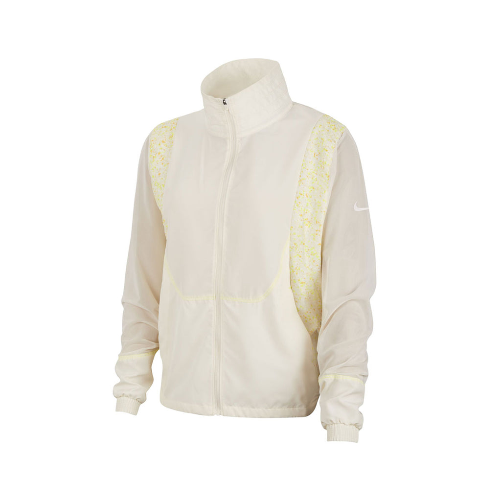Nike Women's Icon Clash Running Jacket Beige Volt Orange - KickzStore
