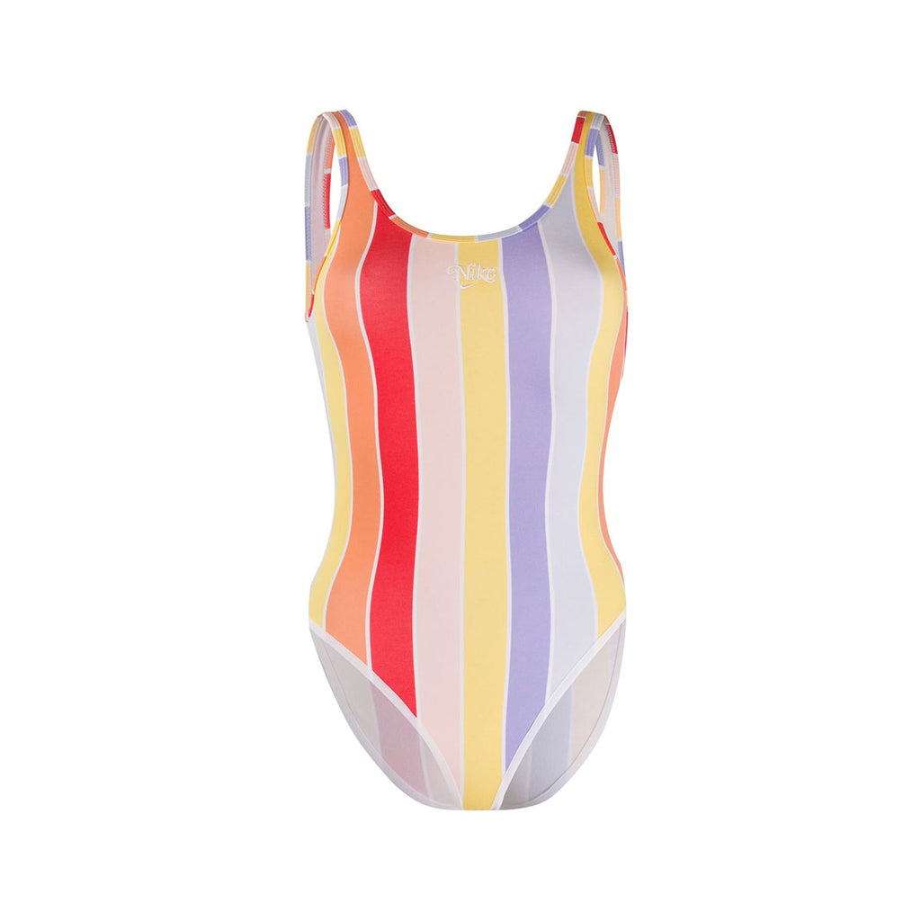 Nike Women's Retro Femme Multi-Color Striped Bodysuit