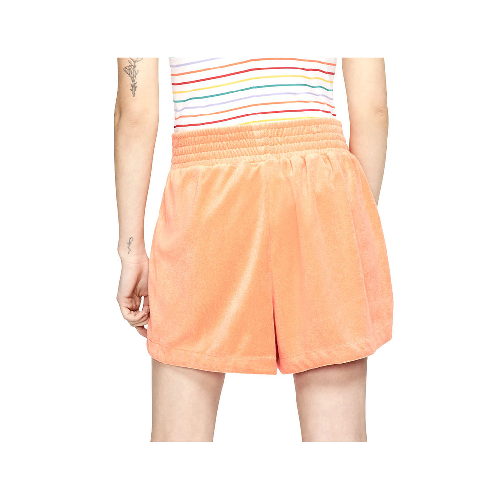 Nike Women's NSW Retro Femme Terry Cropped Crew Orange Shorts - KickzStore