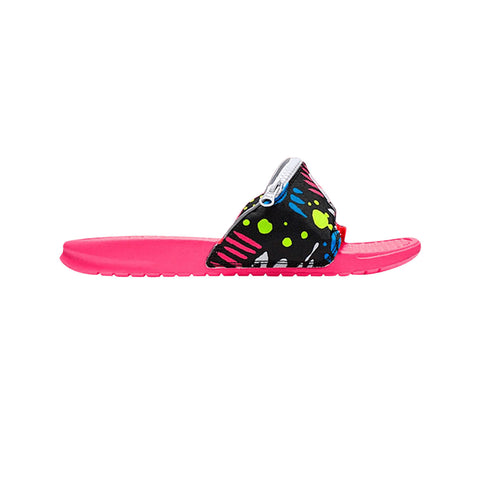 Nike Benassi JDI Just Do It Fanny Pack Retro Print Slide Racer Pink