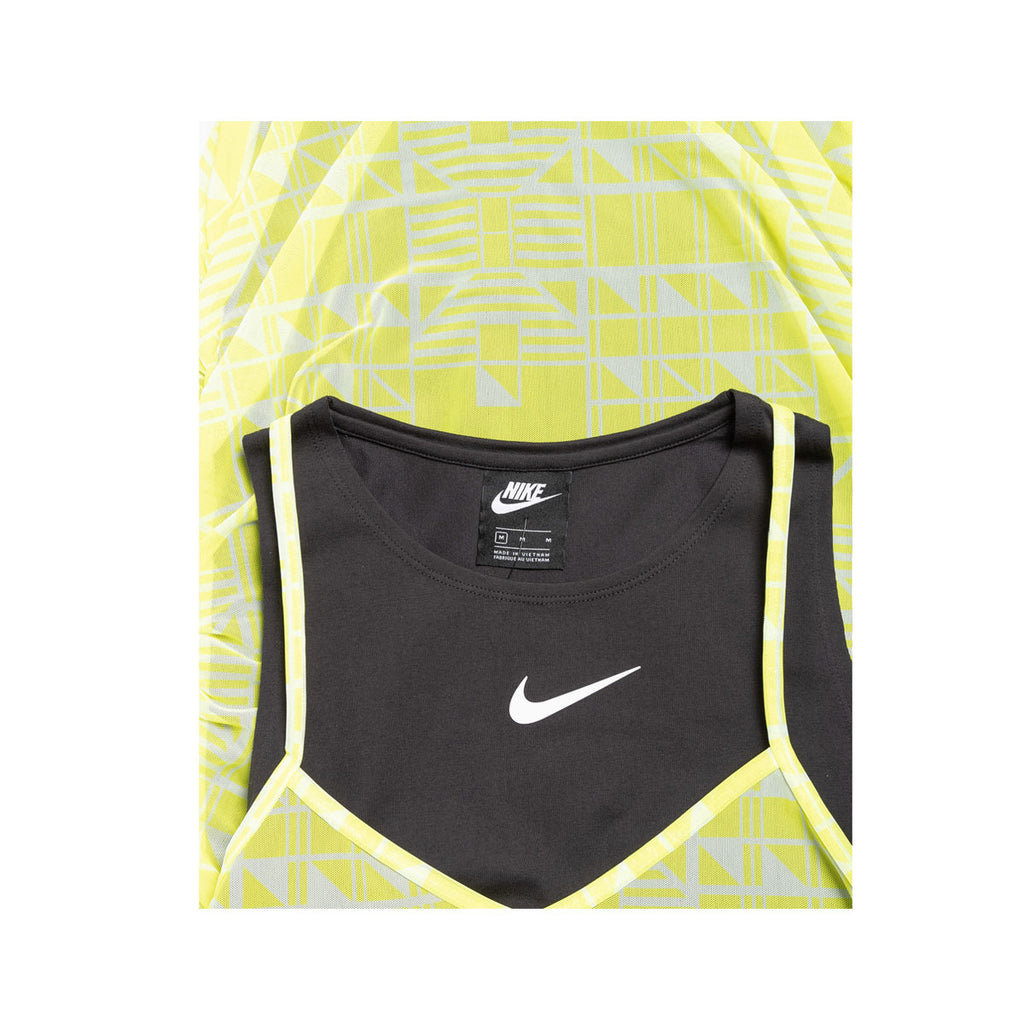 Nike Women's Sportswear NSW Indio Layered Tank Dress Lemon Venom
