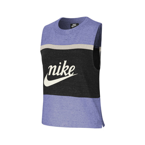 Nike Women's Sportswear Varsity Tank Top Purple Black