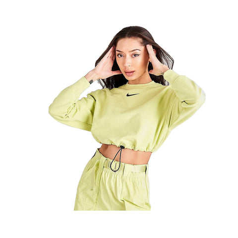 Nike Women's Sportswear Crop Crew Light Green Sweatshirt