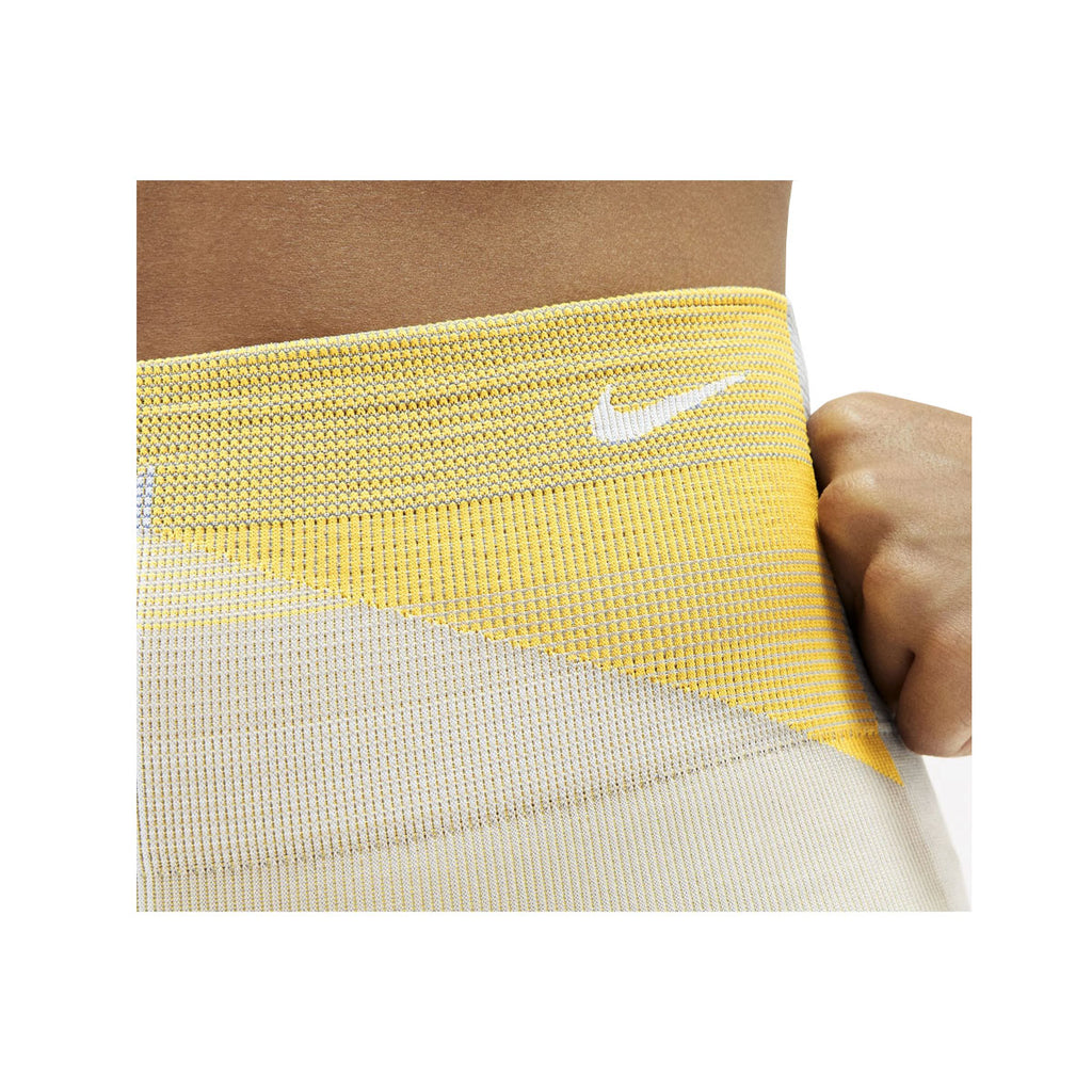 Nike Women's Sculpt Icon Clash 7/8 Seamless Training Tights Yellow Gray