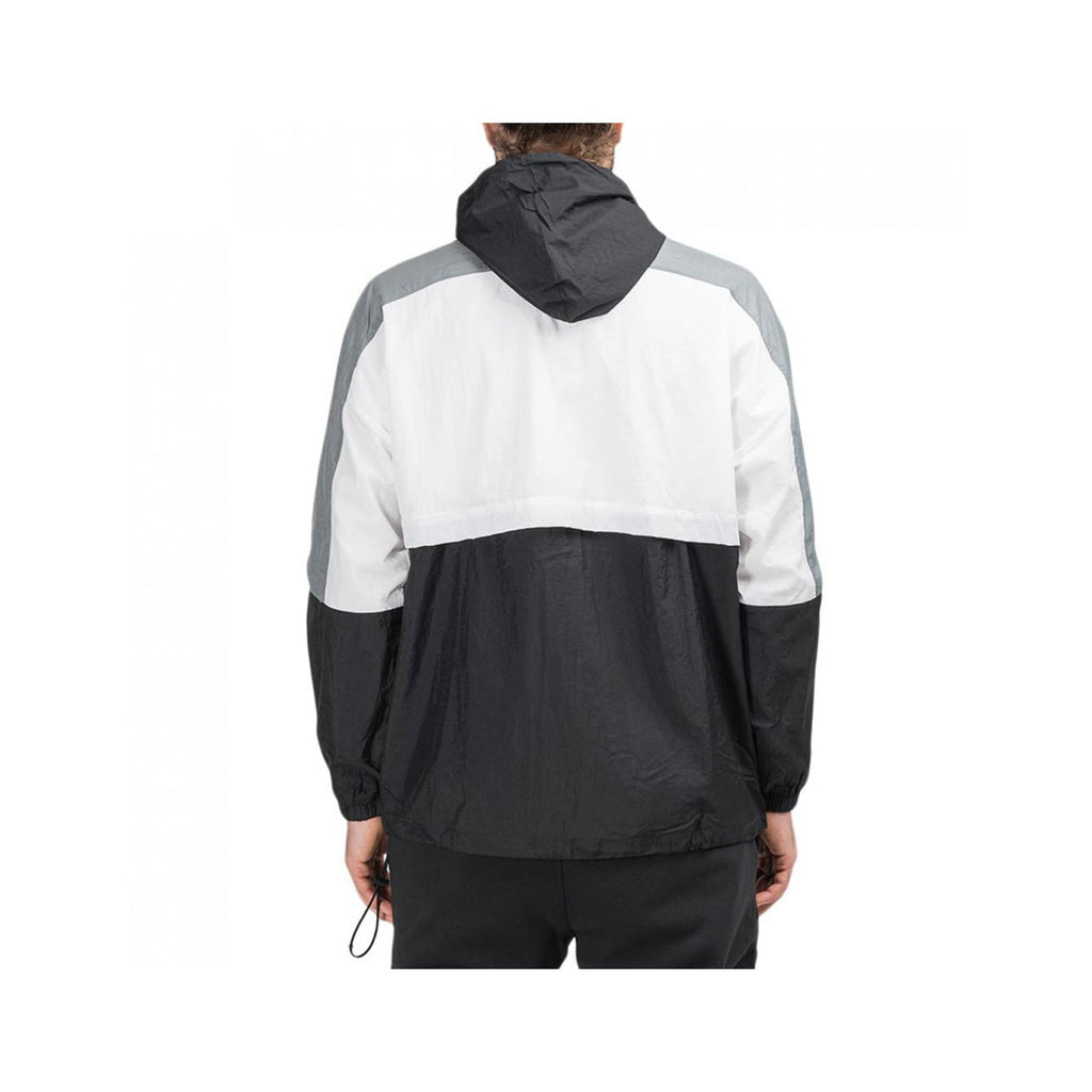 Nike Men's Retro Color Block Woven Jacket Black White - KickzStore
