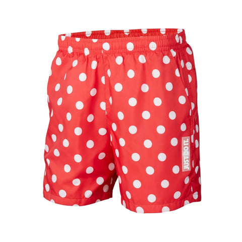Nike Men's Sportswear JDI Dotted Woven Pool Shorts Red