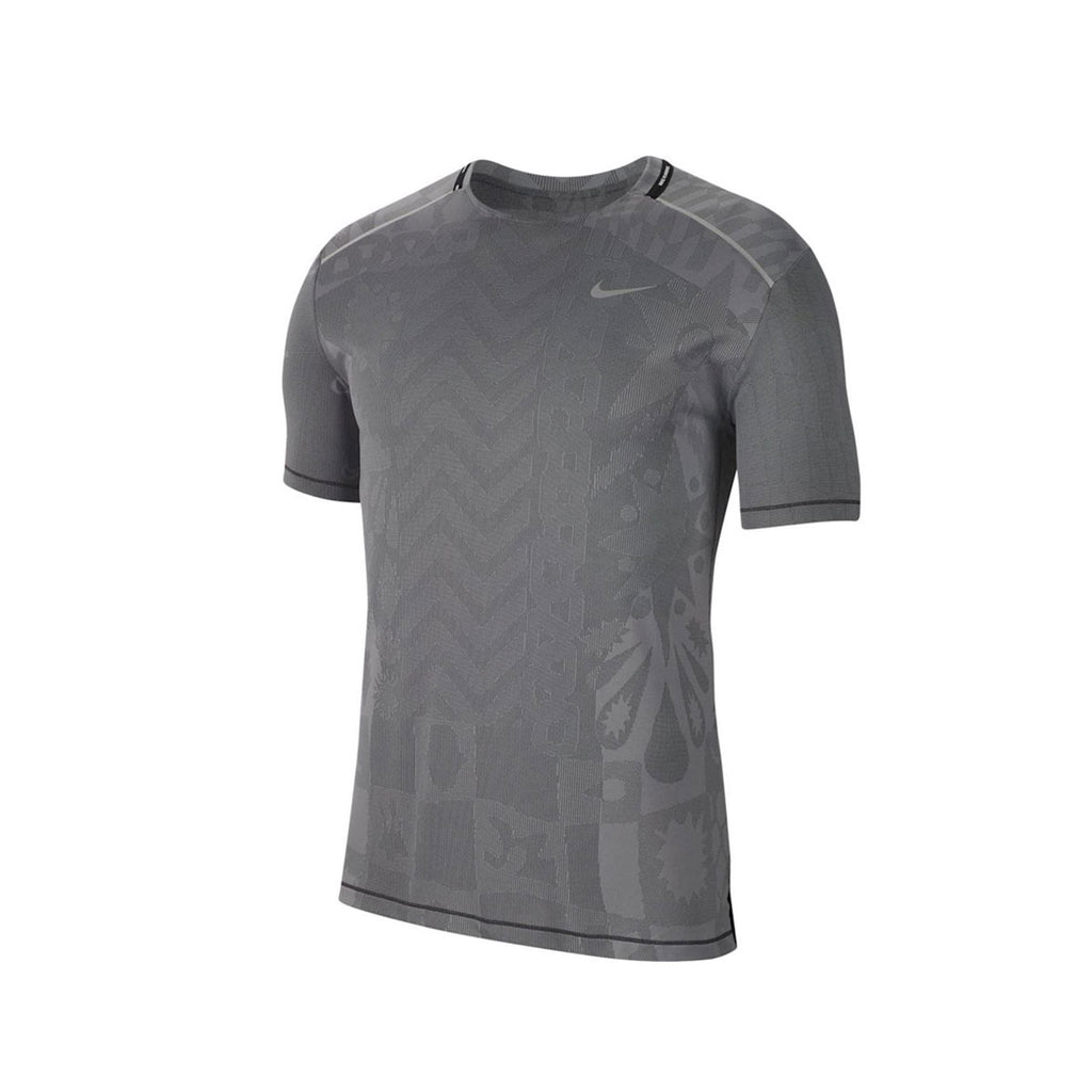 Nike Men's Tech Knit Wild Run Gray Shirt - KickzStore