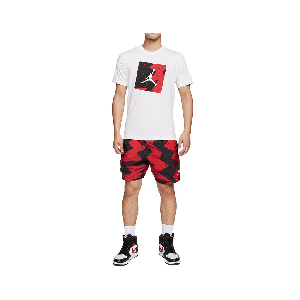Air Jordan Men's Poolside T-Shirt White Black Red - KickzStore