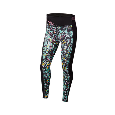 Nike Big Girl's Splattered Training Tights Black
