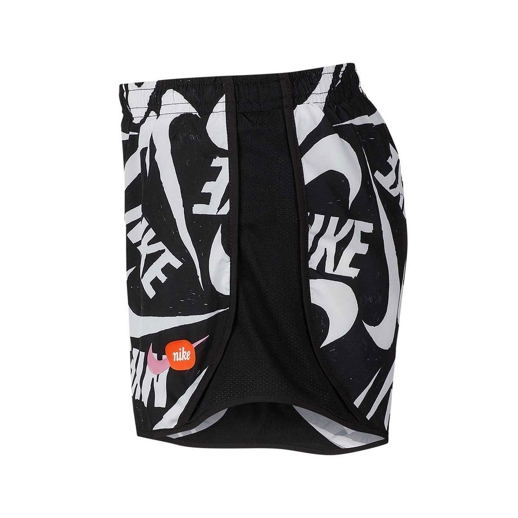 Nike Big Girl's Tempo Print Shorts Black White