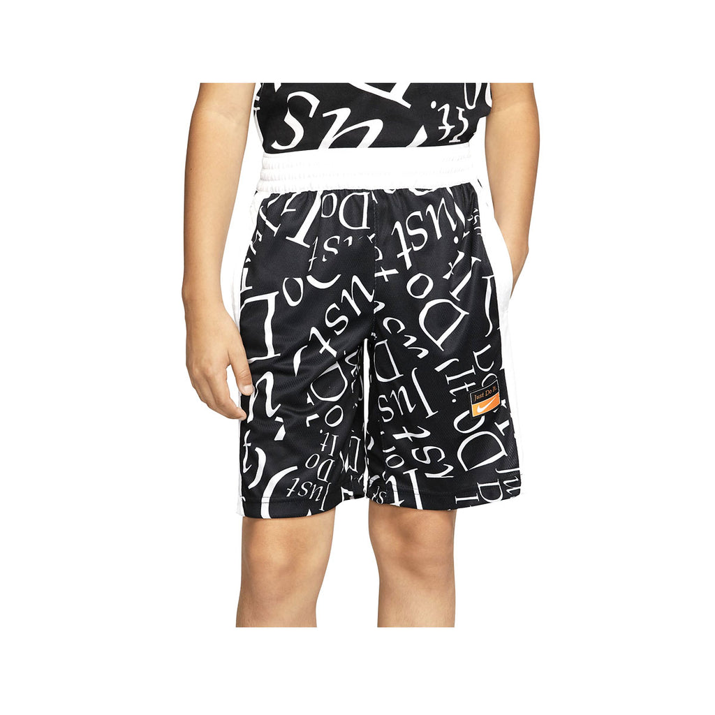 Nike Big Boy's Elite Basketball Shorts Black White