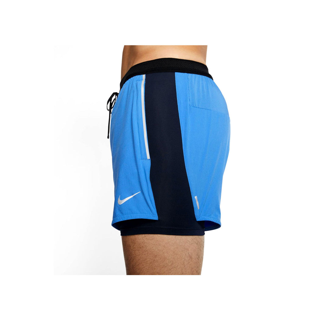 Nike Men's Flex Swift 2 In 1 Light Blue Running Shorts