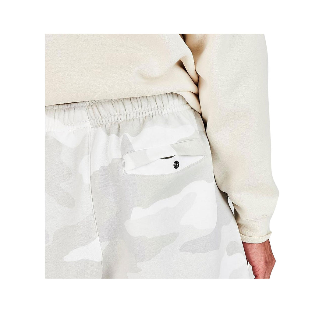 Nike Men's Sportswear Camo Club Fleece Shorts White Gray - KickzStore