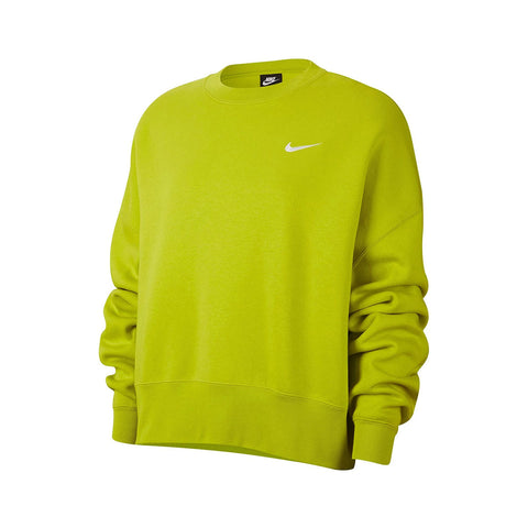 Nike Women's Sportswear Essential Fleece Cropped Crew Bright Cactus