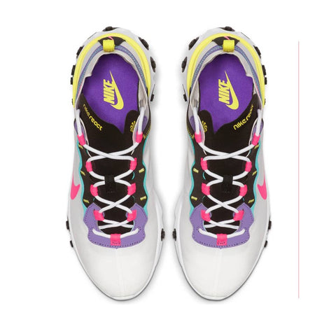 Nike Men's Air React Element 55 White Hyper Pink Black Running Shoes